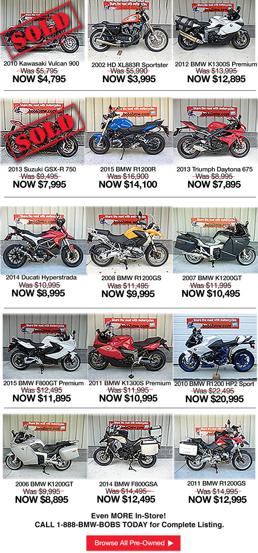 Bob's BMW USed Bike Sale