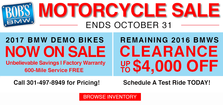 bmw motorcycle sales & promotions | bobs bmw motorcycles
