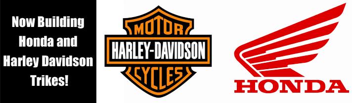 Harley Davidson and Honda trike image