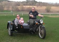 Sienna's first sidecar ride (2)