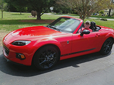 George Kirschbaum in his Miata