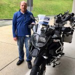 Chad and his new 2017 R1200GSA Triple Black