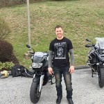 Chris and his new 2007 K1200R.