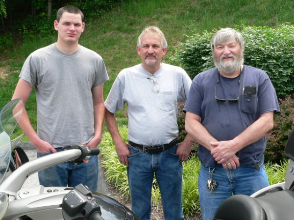 Carl Hauser (far right)K1200LT