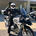 Carlos, who just picked up this 2017 R1200GS.