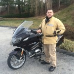 Don Catterton with his 2014 BMW R1200RT.