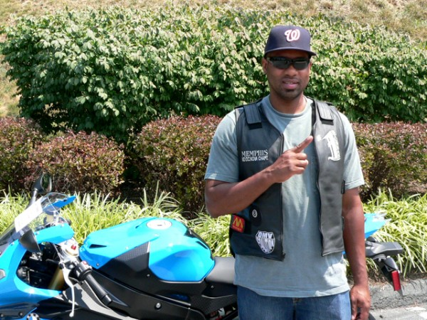 Elton Howard and his 2012 BMW S1000RR.