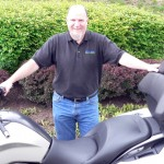 Eric Weber and his 2012 BMW K1600GTL.