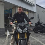 Stephen with his 2016 BMW S1000R.