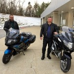 Matt and his new K1600GT and Stephen and his new R1200RT.
