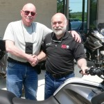 George Kirschbaum and his BMW R1200RT. George has purchased 4 motorcycles from Bob's BMW!
