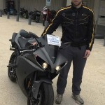 George Stoner an his Yamaha R1.