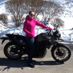 Christina Sammy with her 2014 F700GS from Finksburg, Md