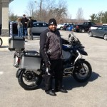 Michael Jordan with his 2015 R1200GSA from Arlington, Va.