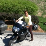 Lorraine Rucker with his 2008 K1200S from Owings Mills, Md