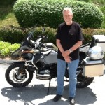 Todd Riebel with his 2015 R1200GS Adventure from Columbia, Md