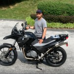 Timothy Carter with his 2015 G650GS from District Heights, Md