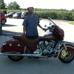 Mark Shanabrough with his 2014 Indian Chieftan from Chicago, IL