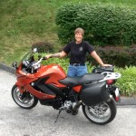 Nancy Glindmyer with her 2013 F800GT from Milmay, NJ