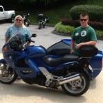 June Speidel from Festus, Missouri with her 2002 K1200RS Side Car