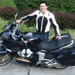 Jason Gousy with his 2008 Moto Guzzi from California, MD.