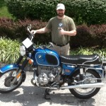 William Cober with his 1976 R90/6 from Elkins, WV.