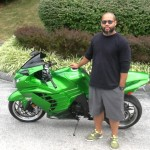 Kenneth Evans with his 2012 Kawasaki ZX1400 from LaPlata, MD