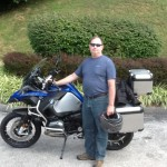 Charles with his 2015 R1200GS Adventure.