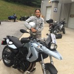 Marion Garcia with her new ride from Washington, DC