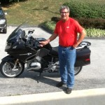 Don at Bob's BMW with his 2015 BMW R1200RT.