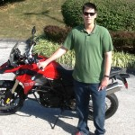 Tyler with his 2015 F800GS at Bob's BMW.