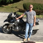 Jeffrey with his 2015 BMW R1200GS at Bob's BMW.