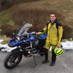 Dan at Bob's BMW in Jessup, MD on his R1200GSA.