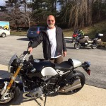 Jeff Johnson and his new R Nine T at Bob's BMW in Jessup, MD