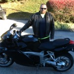 David with his 2008 K1200S.
