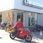 Blayne with his 2013 Ducati 848 EVO.