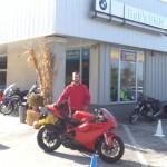 Blayne with his 2013 Ducati 848 EVO.