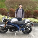 Ryan N. with his 2013 Triumph Speed Triple (SE)