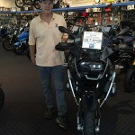 Stephen Green with his 2015 R1200GS at Bob's BMW.