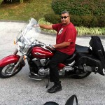 Eugene F. with his 2010 Kawasaki Vulcan 900.