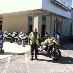 Toni M. with his 2008 BMW R1200GS.