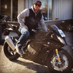 Derrick with his 2015 BMW S1000RR.