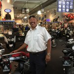 He says his old Harley would not have given him this smile ! Selling the Harley!