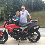 Dana and Donna with their new (to them) 2014 Ducati Hyperstrada!