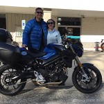 Jaron A. and his 2016 BMW F800R.