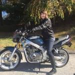 Maureen S., and her 2001 Suzuki GS500!