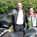 Jim & Tess Hopkins and their 2011 BMW R1200RT.