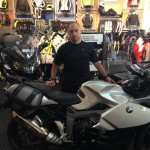 Kenneth Terry with his 2012 BMW K1300S.