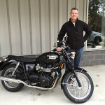 Steve K. just took delivery of the 2013 Triumph Bonneville.
