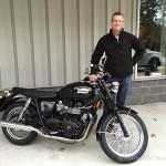 Steve K. just took delivery of the 2013 Triumph Bonneville.